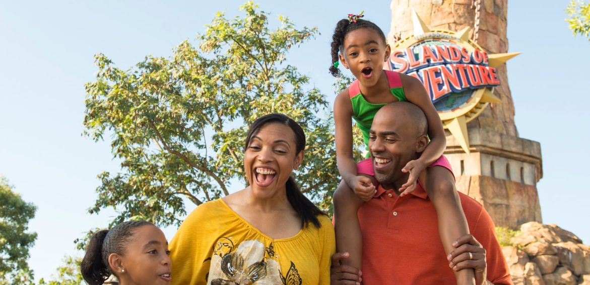 Family at Islands of Adventure